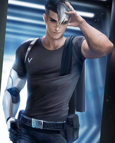 image on a male anime character with silver hair