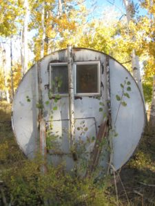image of a fallout shelter in the woods