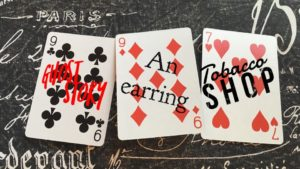 August Flash Fiction prompt: ghost story, earring, tobacco shop